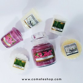 bougies yankee candle collection pure essence verveine white tea vanille