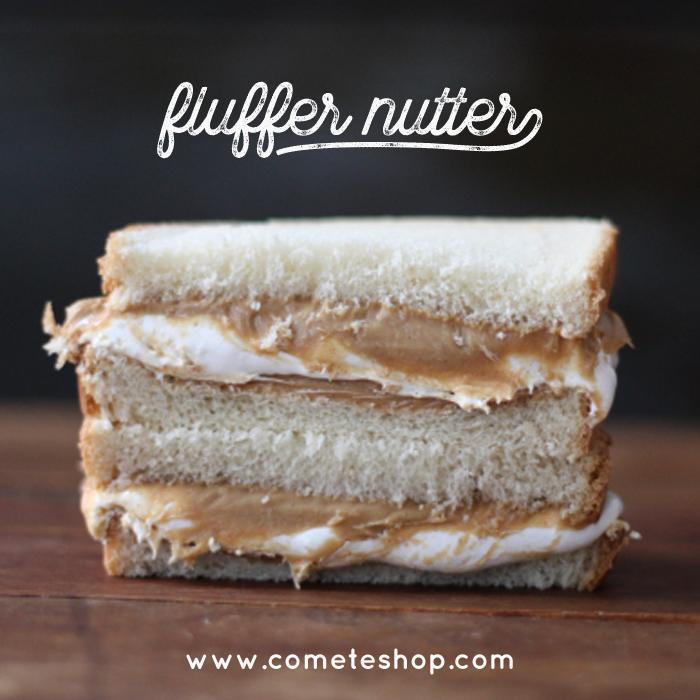 Fluffernutter sandwich beurre de cacahuette et fluff americain recette