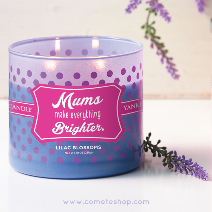 mums make everything brighter une jolie bougie yankee candle parfum lila offrir votre maman. Black Bedroom Furniture Sets. Home Design Ideas