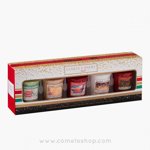 coffrets-cadeaux-noel-yankee-candle-5-votives-bougies-cometeshop