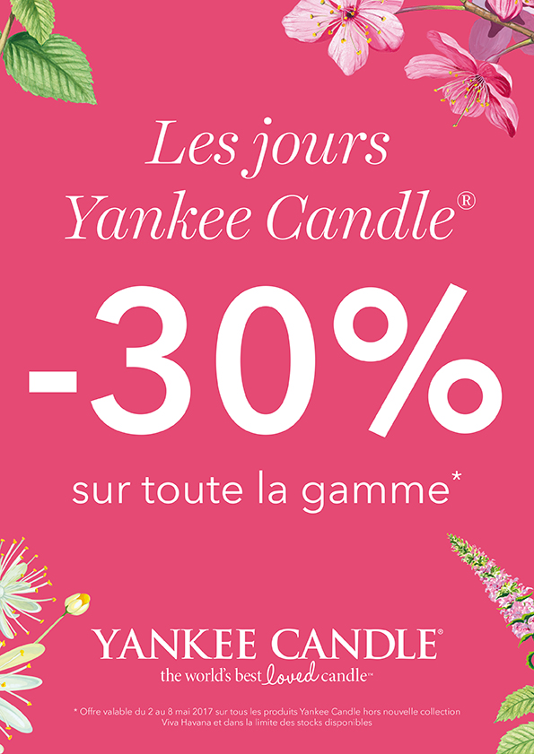 30 sur toute la gamme yankee candle chez. Black Bedroom Furniture Sets. Home Design Ideas