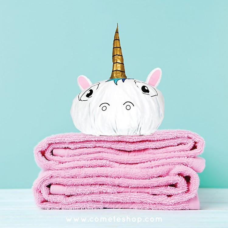 bonnet de douche forme licorne npw