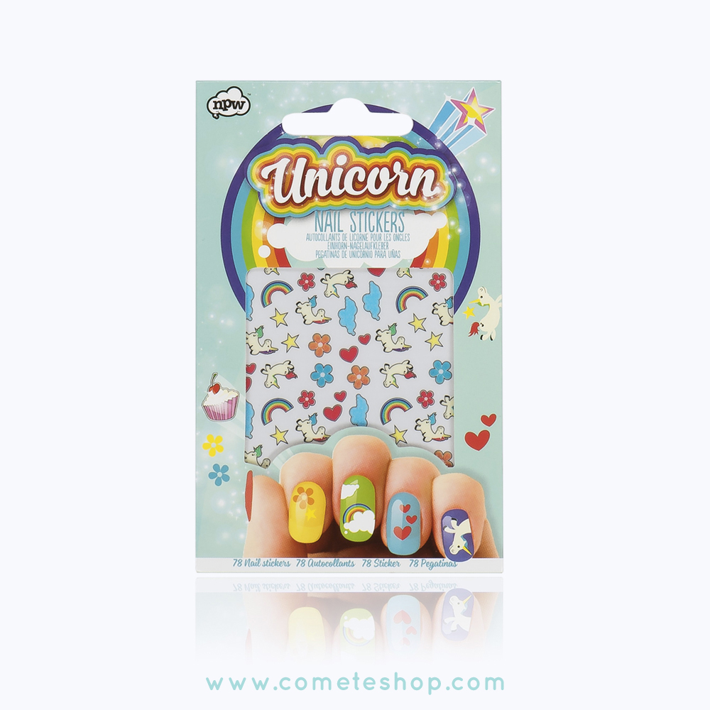 stickers ongles licornes npw