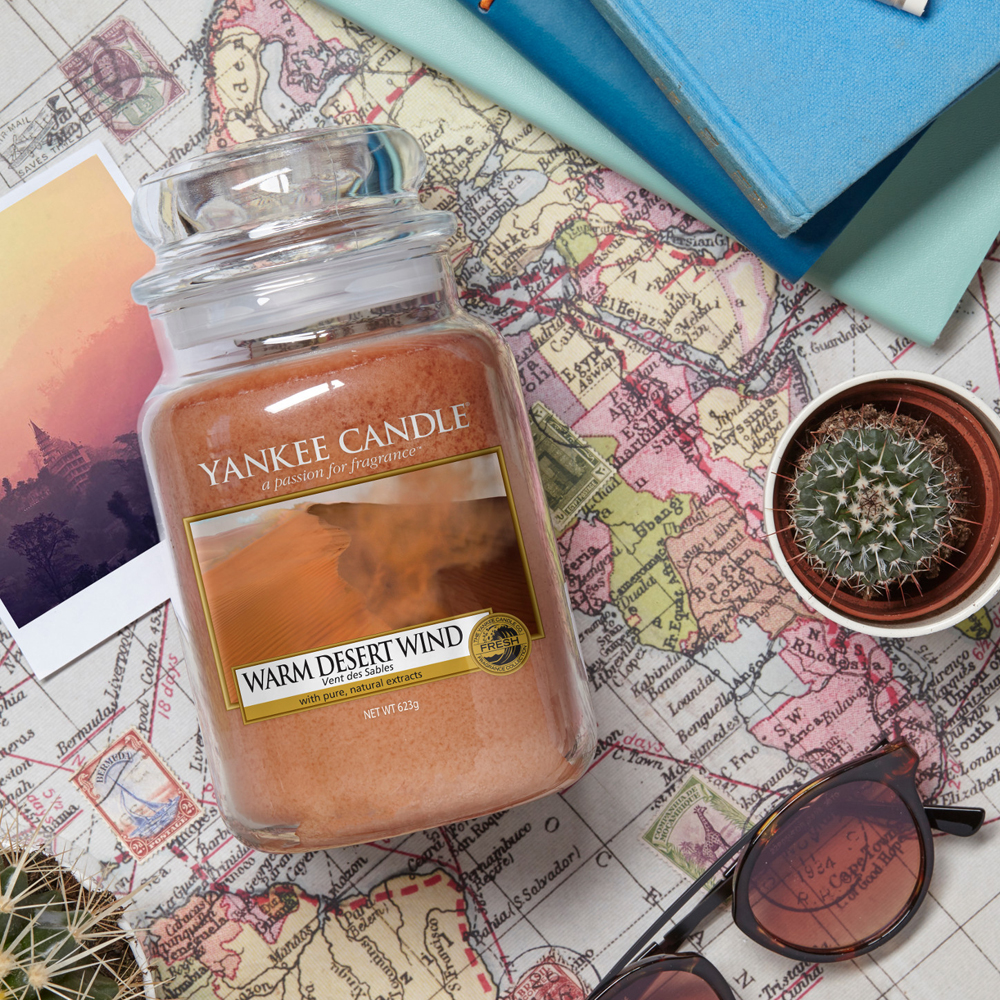bougie warm desert wind collection just go yankee candle revue parfum boutique paris