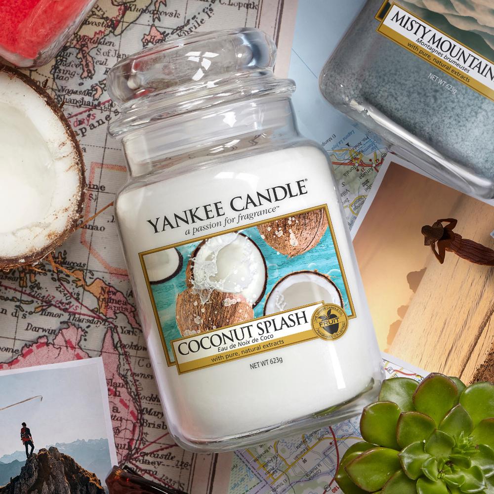 nouveau parfum yankee candle coconut splash revue avis boutique paris revendeur bougies yankee candle