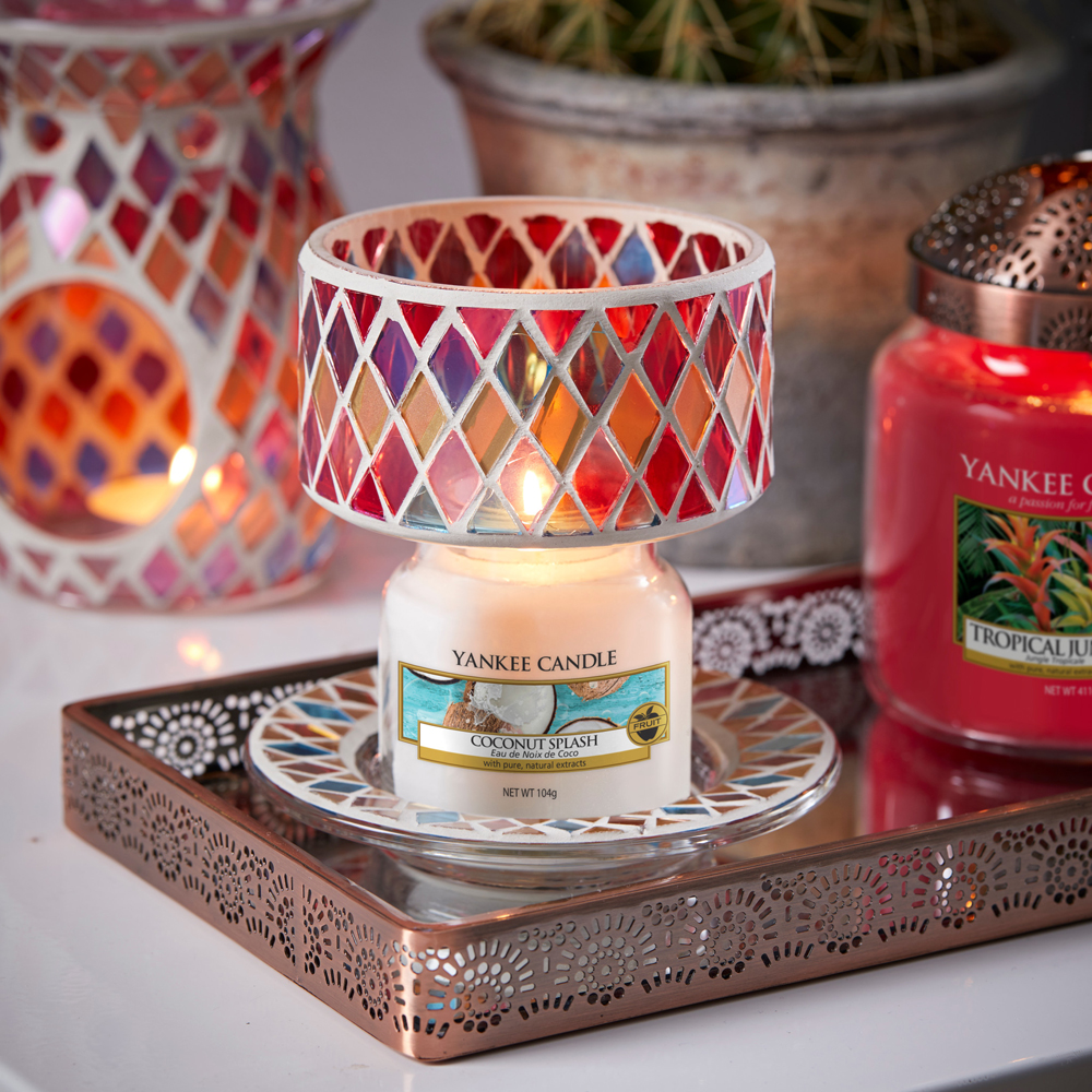 plateau bougie yankee candle abajour warm rustic nouveautés mosaique
