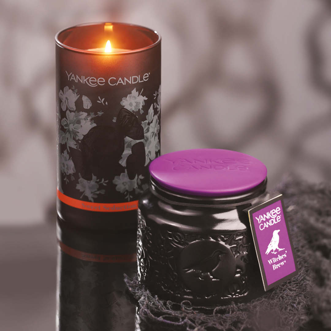bougies halloween yankee candle sweet seduction et witche brew