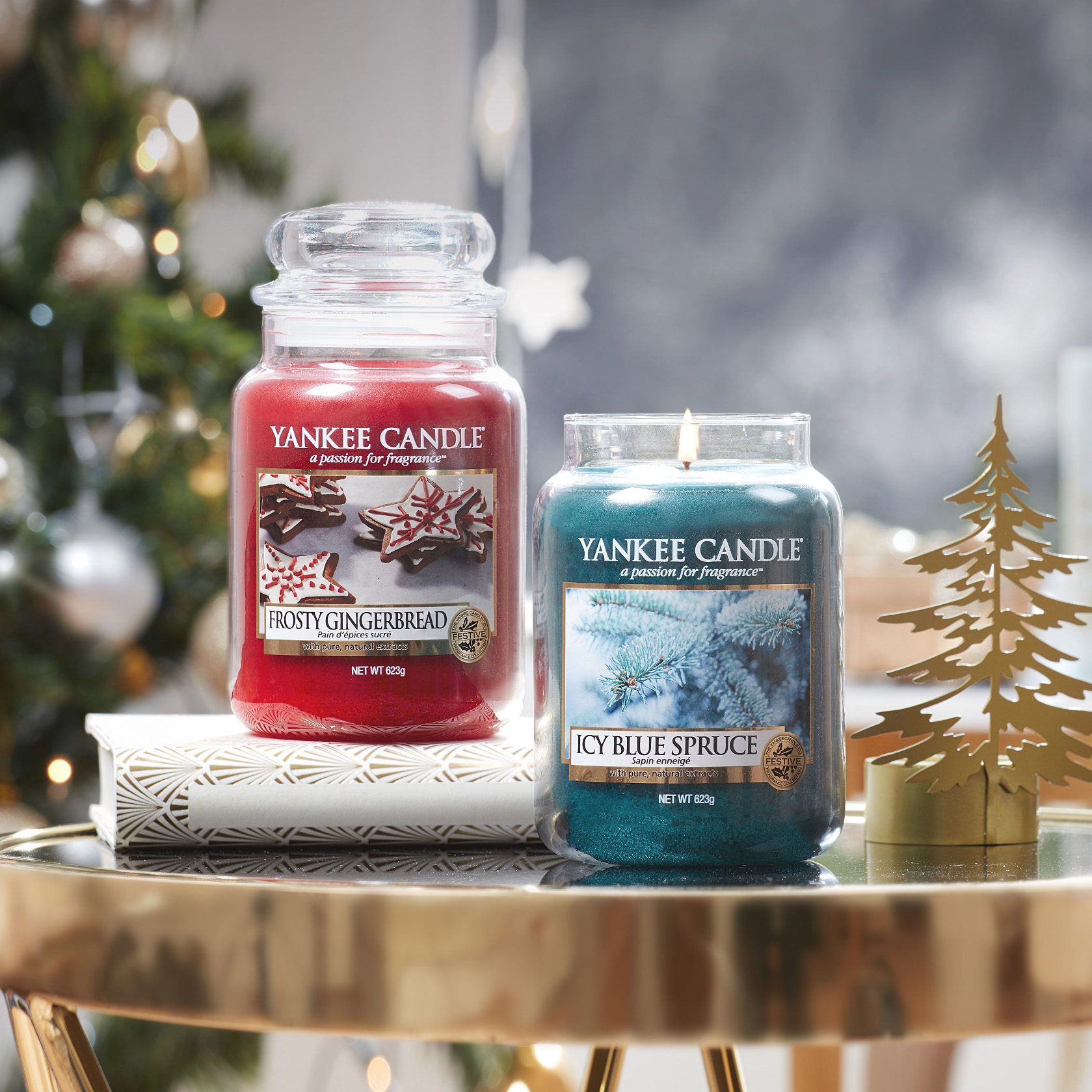nouveaux parfums noel yankee candle sparkle holiday Holiday Sparkle_Frosty Gingerbread_Ice Blue Spruce