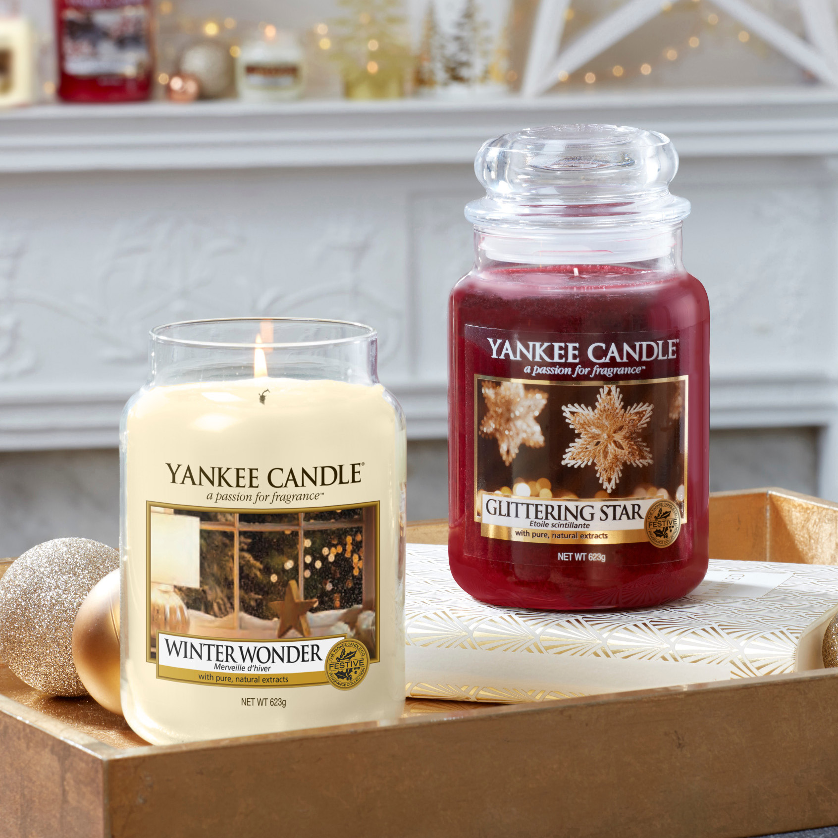 nouveaux parfums noel yankee candle sparkle holiday winter wonderland glittering star