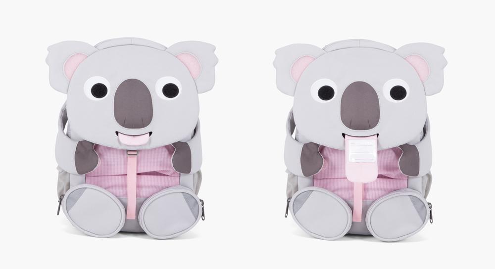 sac a dos enfant animaux tire la langue etiquette nom prenom