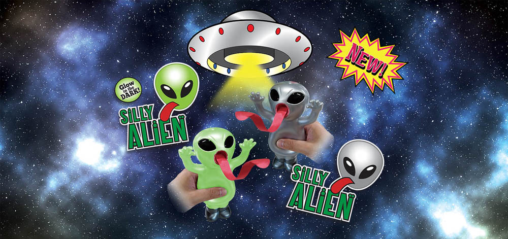 sankyo-toys-jabber balls Silly alien glow brille dans le noir jouet japonais tire la langue copie