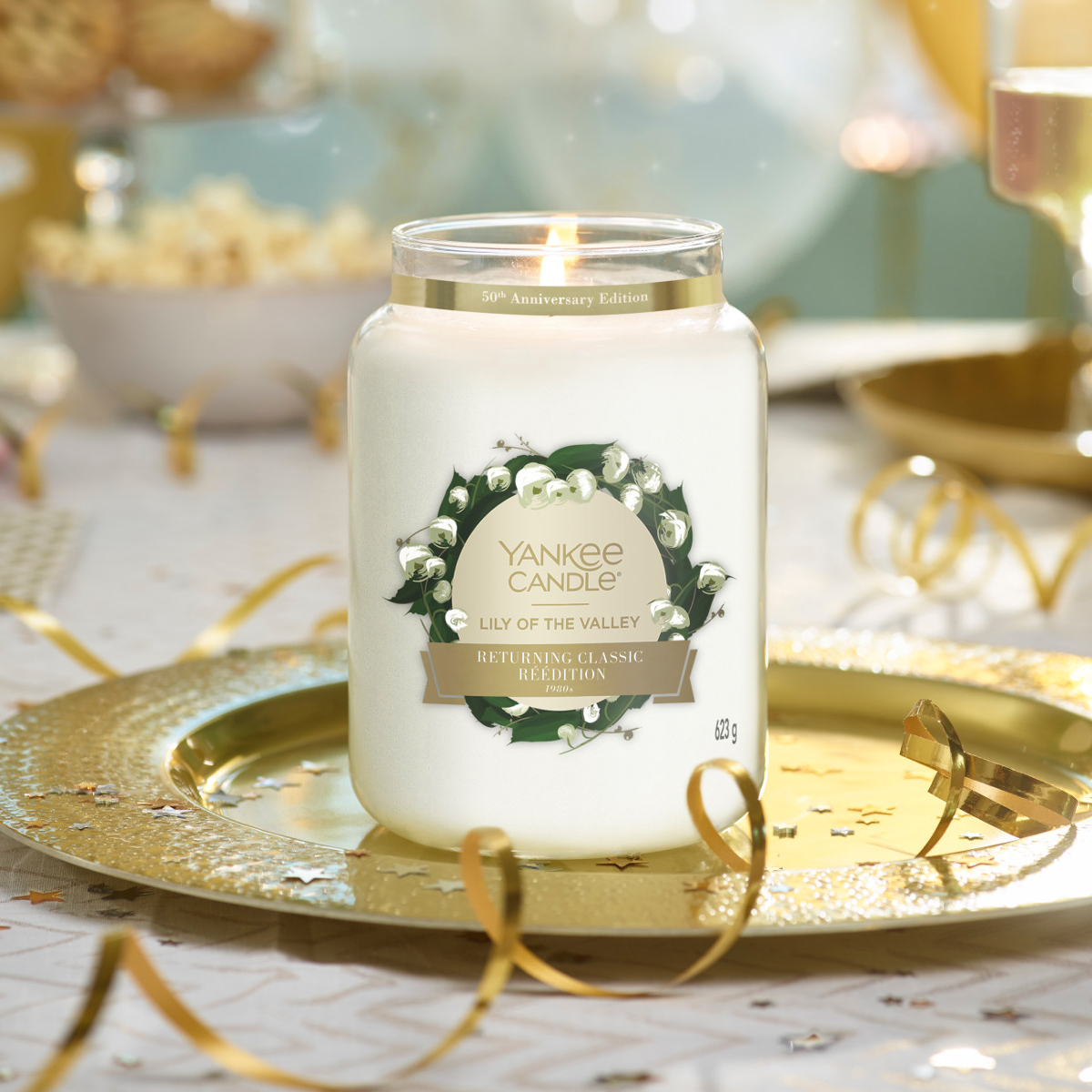 50 anniversaire yankee candle bougie muguet lilly of the valley