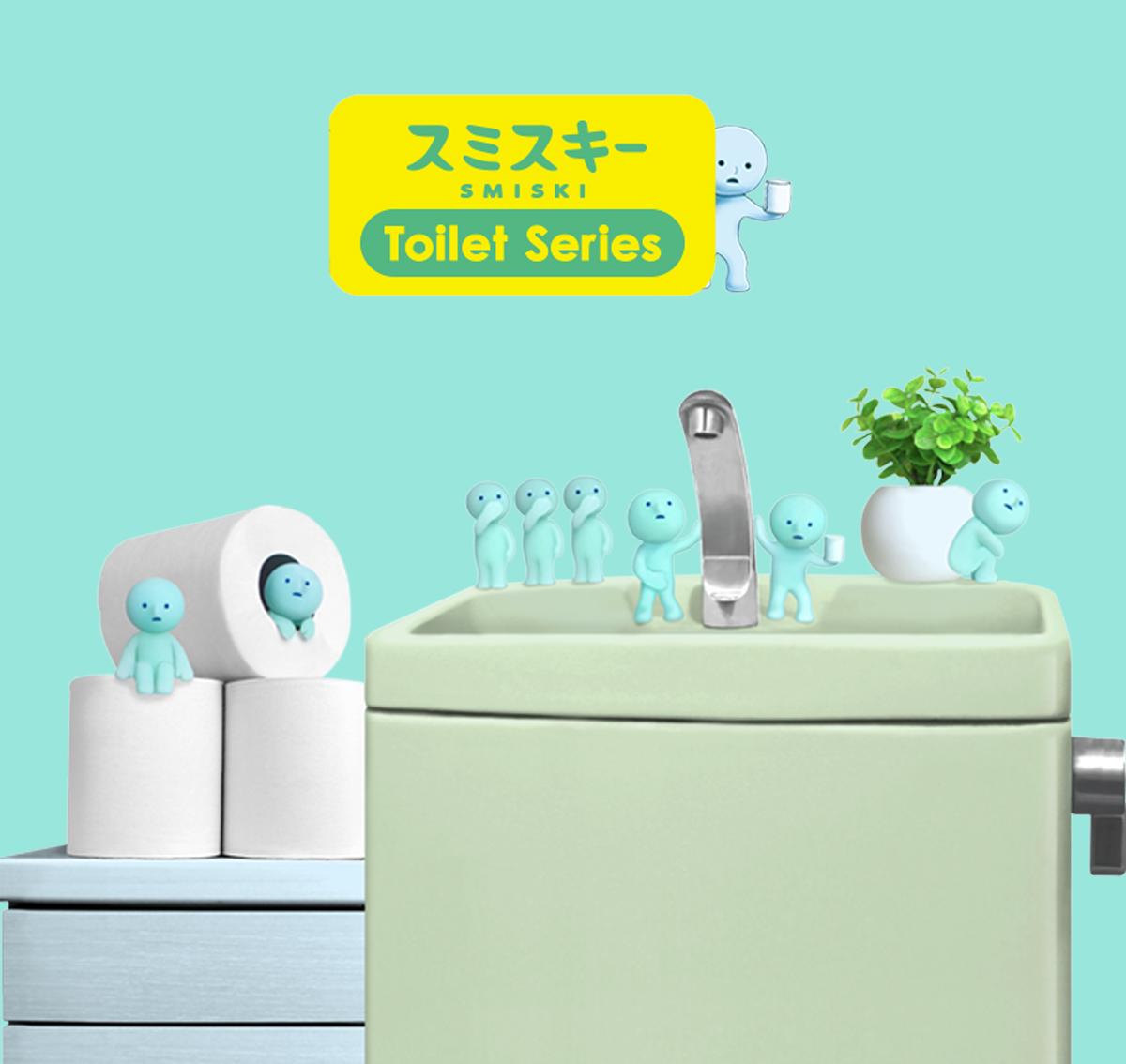 figurine japonaise-smiski-bath serie toilet toilette