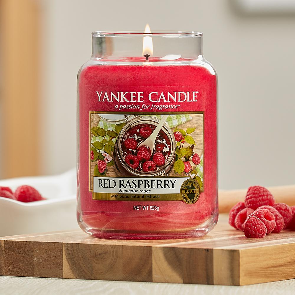promo parfums du mois yankee candle bougie framboise